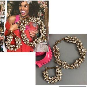 J. Crew Glacier Necklace & Bracelet Set